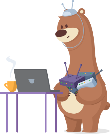 Technology bear icon