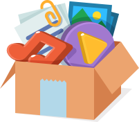Filled box icon
